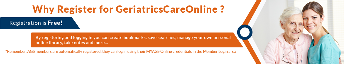 Why Register For GeriatricsCareOnline?