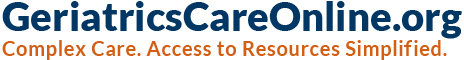 GeriatricsCareOnline.org Complex Care. Access to Resources Simplified. header_logo