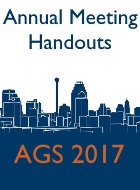 2017 AGS Annual Scientific Meeting Handouts