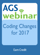 Coding Changes for 2017: Focus on New Codes for Geriatrics