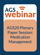 AGS20 Plenary Paper Session: Medication Management